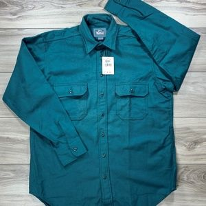 Vtg Woolrich Heavy Long Sleeve Button Down NOS